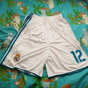 Real madrid home shorts 2017-2018 #12 Marcelo